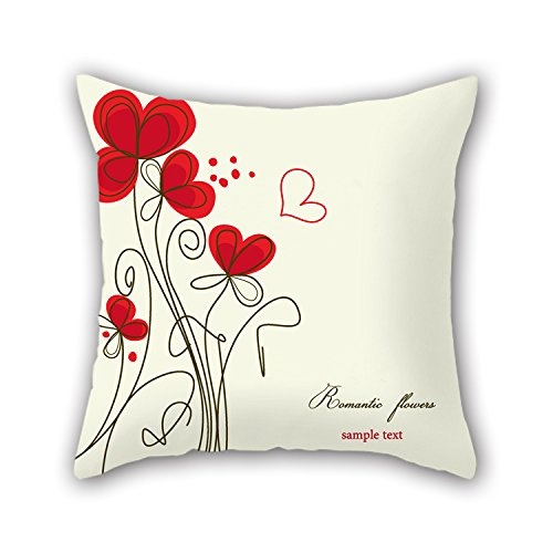 PILLO 18 X 18 Inches / 45 By 45 Cm Flower Pillowcase ,twin Sides Ornament And Gift To Seat,lounge,adults,bar Seat,festival,play Room