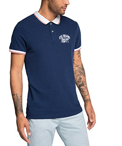 edc by ESPRIT 046CC2K023-Chest Logo-Slim Fit, Polo Uomo, Blu (Nave 400), X-Large
