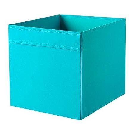 ikea aufbewahrungsbox dr na blau t rkis 33x38x33cm. Black Bedroom Furniture Sets. Home Design Ideas