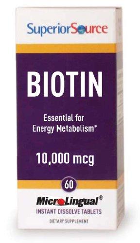 Superior Source - Biotin 10000 Mcg, 10000 Mcg, 60 Quick Dissolving Tabs
