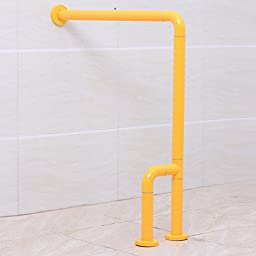 BBSLT-Right angle l-shaped floor barrier-free bathroom handrail handrail for the disabled handrail , 600700mm yellow