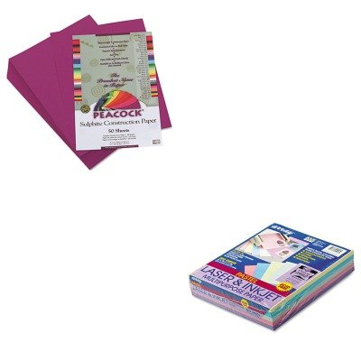 KITPAC101058PACP6409 - Value Kit - Pacon Peacock Sulphite Construction Paper (PACP6409) and Pacon Array Colored Bond Paper (PAC101058) kitcyo588750pac103637 value kit crayola pip squeaks telescoping marker tower cyo588750 and pacon riverside construction paper pac103637