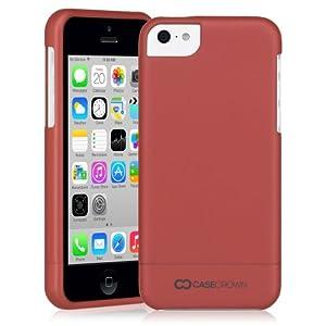 CaseCrown 2-Piece Lux Glider Schutzhülle (Rot Metallic) für Apple iPhone 5c