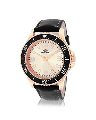Seapro Men's SP5314 Tideway Black/Rose Leather Strap Watch