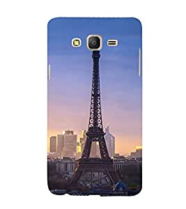99Sublimation Effie Tower In Evening 3D Hard Polycarbonate Back Case Cover for Samsung Galaxy On5 :: G550FY