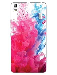 Colorful Smoke - Abstract Pattern - Hard Back Case Cover for Lenovo A7000 - Superior Matte Finish - HD Printed Cases and Covers
