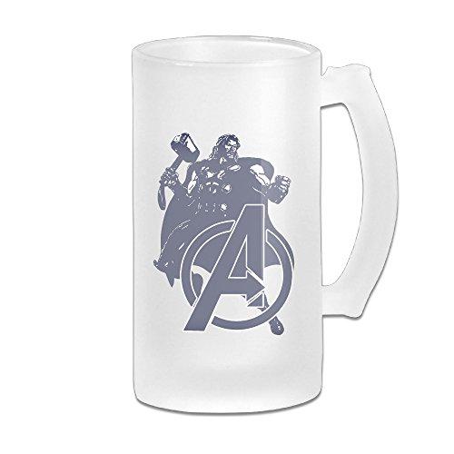 [ASCHO2 Avengers Thunder Glass Beer Mug, 16 Ounce] (Thunder Lightning Costume)