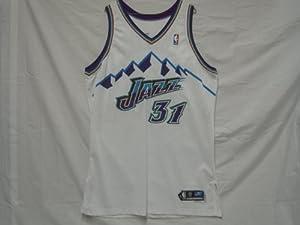 2002-03 Utah Jazz #31 Jarron Collins Game Worn Jersey by Reebok