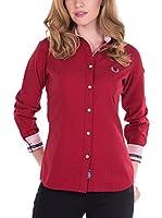 SIR RAYMOND TAILOR Women'S Linen Shirt Cleek (BURDEOS)