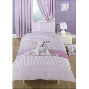 Girls Rachael Hale Daysha Dalmatian Quilt/Duvet Cover Bedding Set (Single Bed) (Pink)