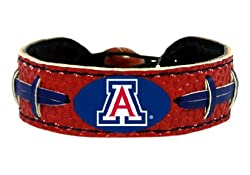 Arizona Wildcats Team Color NCAA Gamewear Leather Football Bracelet