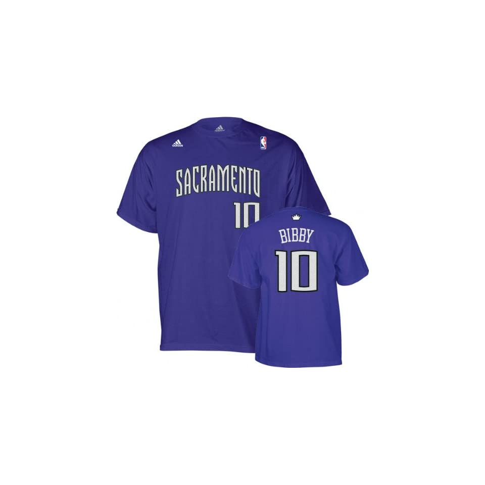 Mike Bibby adidas Name and Number Sacramento Kings T Shirt