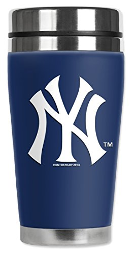 Mugzie® Brand 16-Ounce Travel Mug With Insulated Wetsuit Cover - New York Yankees