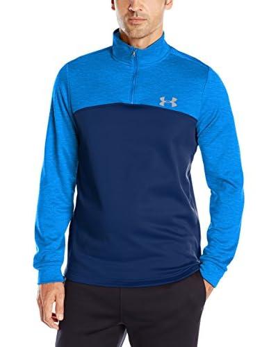 Under Armour Camiseta Técnica Fleece 1/4 Zip Azul / Turquesa