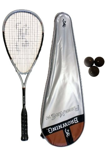 Browning Platinum Nano 140 Squash Racket + Pack of Squash Balls