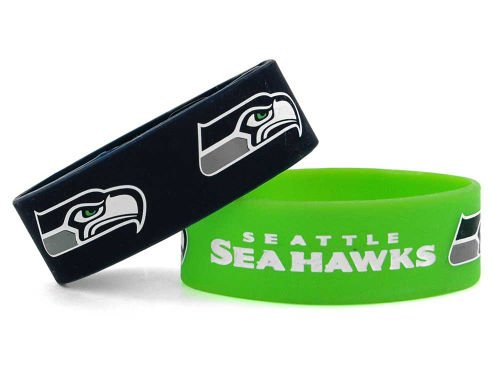 Seattle Seahawks Two Pack Team Color Bracelets at Amazon.com
