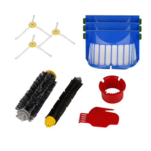 Keepfit Replacement Accessories Kit Vacuum Cleaner parts Include 3 Pack Filter, Side Brush, 1 Pack Bristle Brush and Flexible Beater Brush, 1 Cleaning Tool for iRobot Roomba 600 610 620 650 Series (Roomba 655 Remote compare prices)