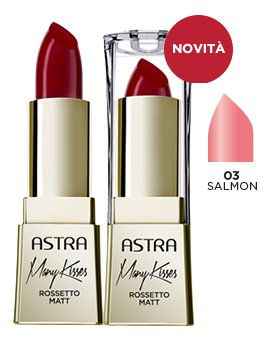 ASTRA Many kisses 03 salmon rossetto* - Cosmetici