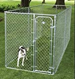 Dog Kennel Boxed 2-in-1 in Galvanised