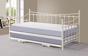 memphis einzelbett mit ausziehbett elfenbein oder schwarz. Black Bedroom Furniture Sets. Home Design Ideas