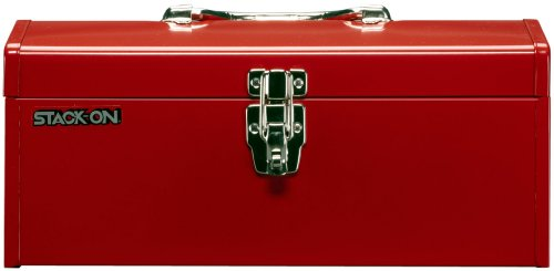 Stack-On R-516-2 16-Inch Multi-Purpose Steel Tool Box, Red front-1073913