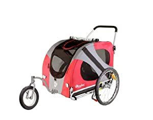 DoggyRide Original Dog Jogger-Stroller, Urban Red