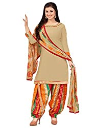 Applecreation Beige | cotton dress materials for women low price PARTY WEAR new collections Salwar Suit Kameez