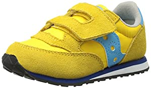 Saucony Boys Baby Jazz H and L Sneaker (Toddler),Yellow/Teal,8.5 M US Toddler