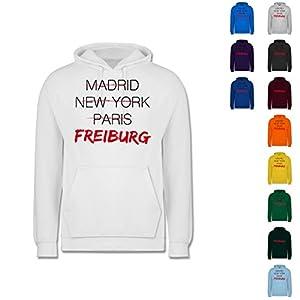 Städte - Weltstadt Freiburg - Männer Premium Kapuzenpullover / Hoodie
