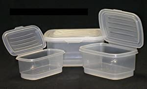 Food Storage Containers Set, Nested, Attached Lids, Dishwasher, Freezer and Microwave Safe, Italian