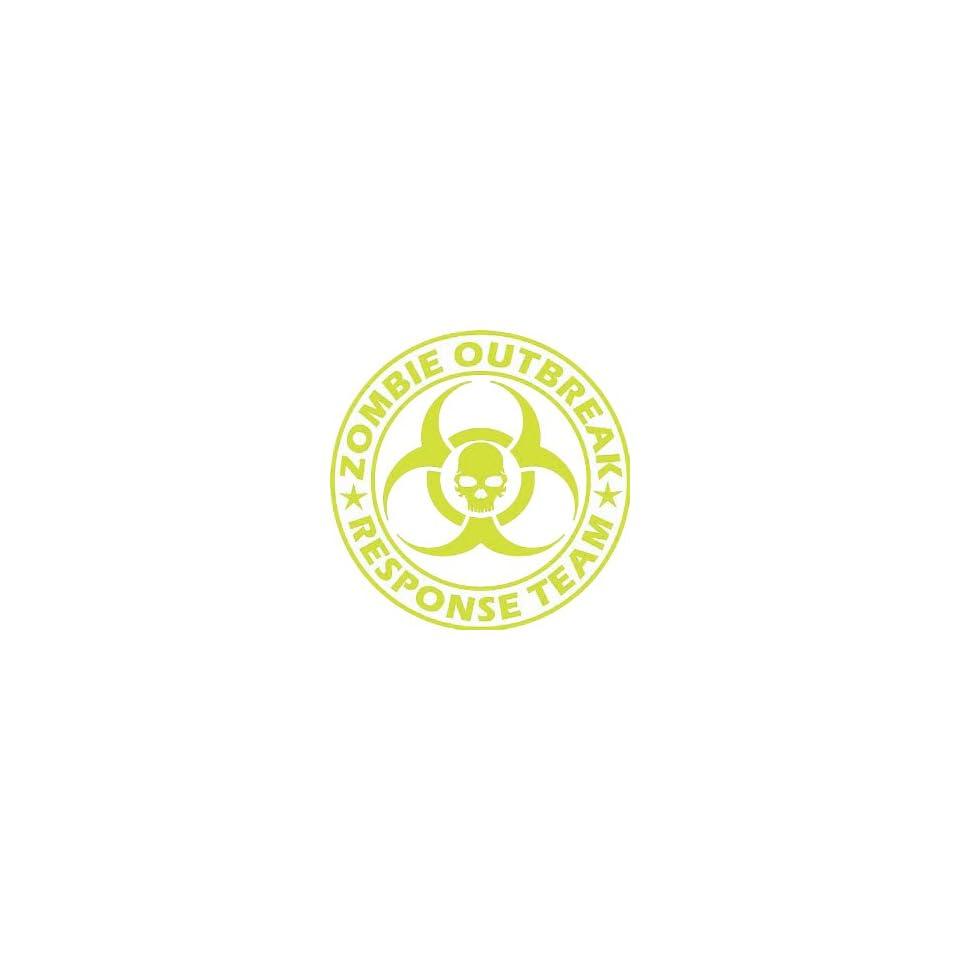 Zombie Outbreak Response Team YELLOW 5 Die Cut Vinyl