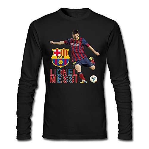 AOPO Men's Long Sleeve FCB Lionel Messi Tee Shirts