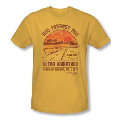 Forrest Gump Romance Comedy Drama Movie Ultra Marathon Adult Slim T-Shirt Tee