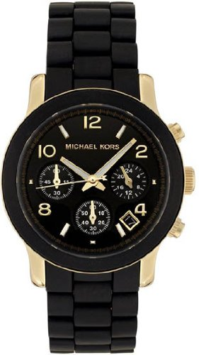 Michael Kors Quartz, Black Dial  Black Goldtone