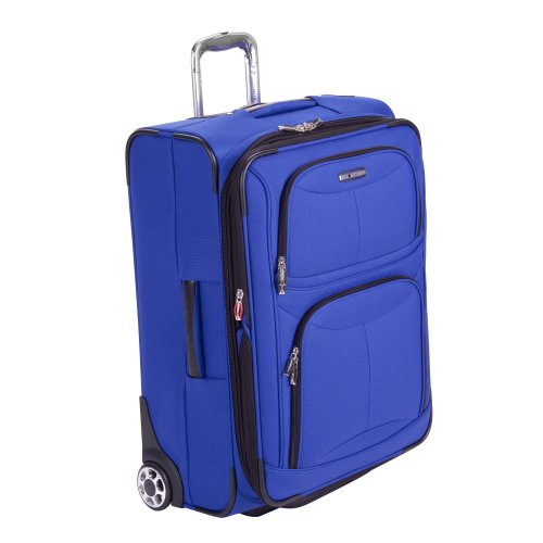 Delsey Luggage Helium Fusion 3.0 Expandable 25 Inch Suitcase, Blue, 25″x9″x17.5″ best deal