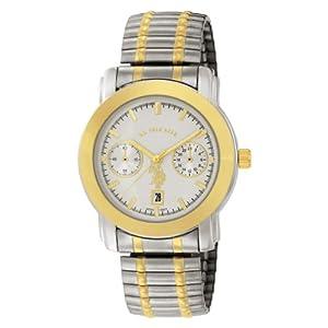 U.S. Polo Assn. Classic Men's USC80050 Two-Tone Chrono-Style White Dial Expansion Watch