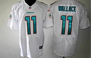 Mike Wallace #11 Miami Dolphins 2013 White Jersey 40 Medium by Field