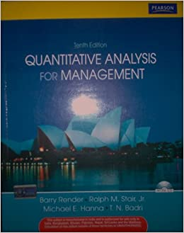 quantitative analysis for management by barry render pdf
