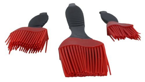 SILICONE Basting Brushes 3-Piece Set - Red