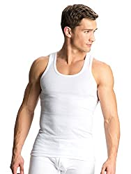 JOCKEY PREMIUM RIBBED COTTON VEST PACK OF 4 - LARGE(100-105)