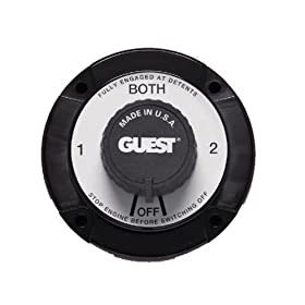 Guest 2111A Universal Mount Marine Battery Selector Switch (230 Continuous, 345 Momentary Amps)