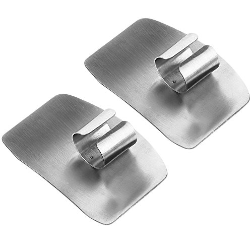 Finger Guard Yummy Sam® Adjustable Hand Guard Finger Protector Stainless Steel Knife Slice Chop-Safe Kitchen Tool Avoid Hurting When Slicing,