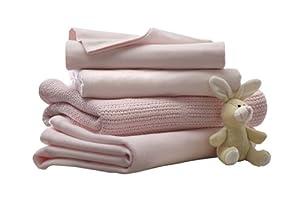 Lollipop Lane Essential Bedding Bale Pram (4 Piece, Pink)
