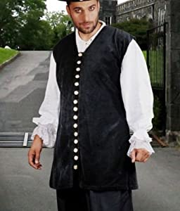 Captain De Lisle Pirate Vest (Size XX Large) from Patterns of Time