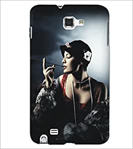 PrintDhaba Hat Girl D-5292 Back Case Cover for SAMSUNG GALAXY NOTE 1 (Multi-Coloured)