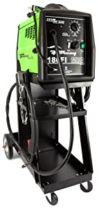 Forney 310 180FI-A Gas/No Gas Flux Core Welder with Cart, 230-Volt, 180-Amp, Green by Forney