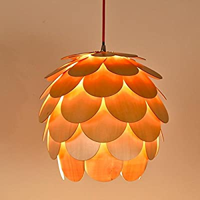 SNEED-Creative wood chandelier modern minimalist living room bedroom dining LED chandelier lighting chandelier shape camellia