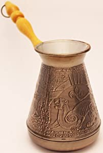 """Turkish Greek Coffee Pot """"Leopard"""" Volume 20.3 Oz - 600 ML (Ibrik, Briki, Cezve, Turka) from Atlant Inc"""