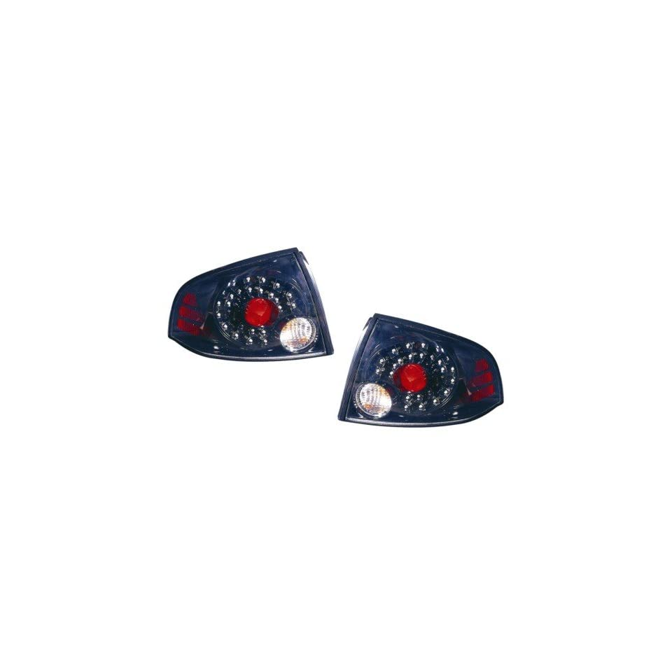 Nissan Sentra Replacement Tail Light Assembly (LED Black)   1 Pair