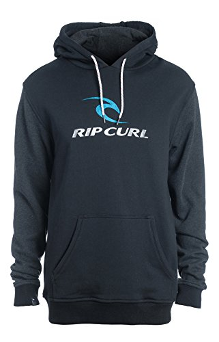 Rip Curl Corps Hooded Felpa, Nero, XL